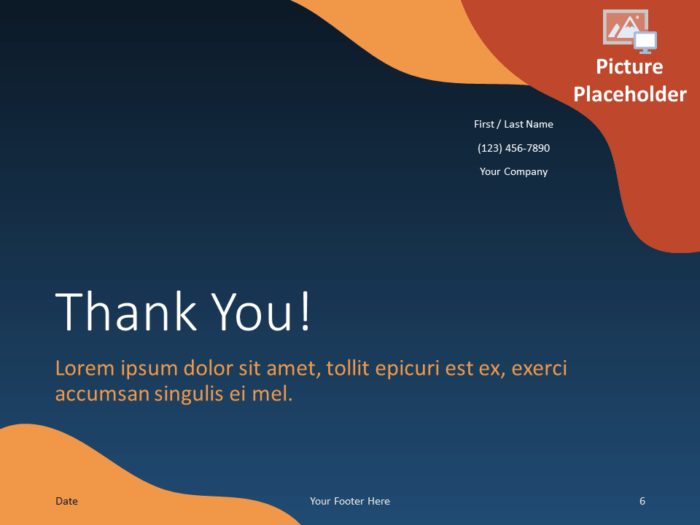 Free FLUID Template for PowerPoint - Closing / Thank you