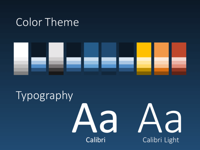 Free FLUID Template for PowerPoint – Colors and Fonts