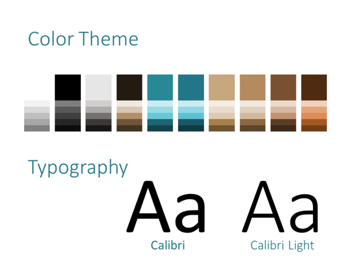 Free Stone Mosaic Template for PowerPoint – Colors and Fonts