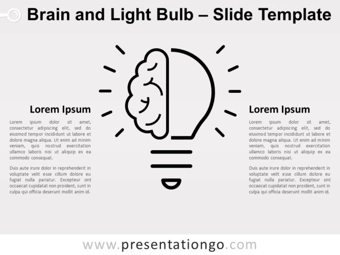 Free Brain Light Bulb Infographics for PowerPoint