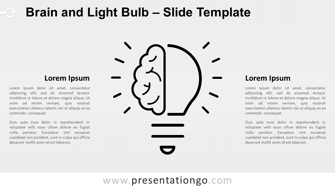 Free Brain Light Bulb Infographics for PowerPoint and Google Slides