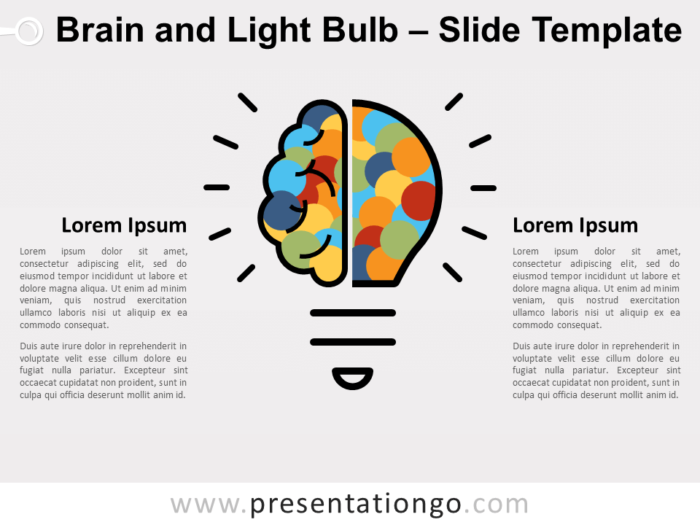 Free Brain Light Bulb for PowerPoint