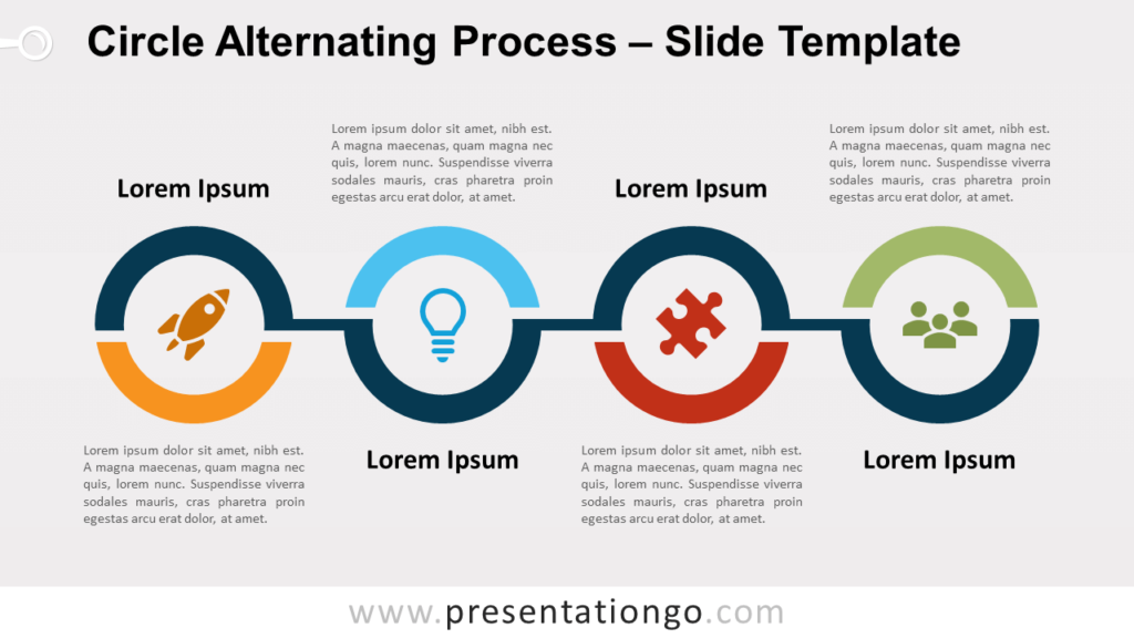 Free Circle Alternating Process for PowerPoint and Google Slides