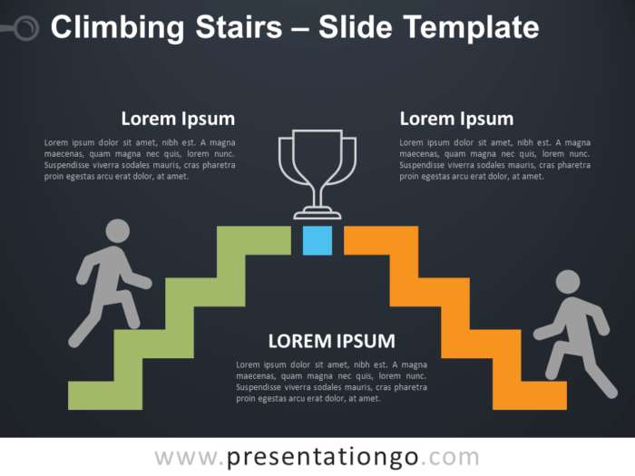 Free Climbing Stairs Infographic for PowerPoint