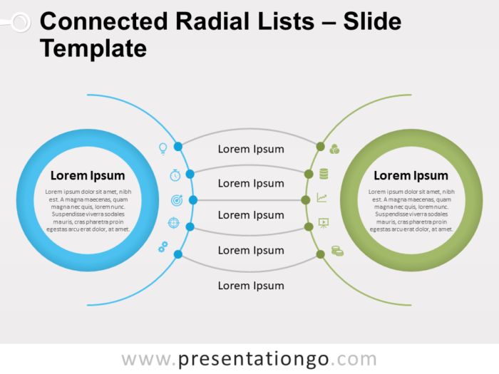 Free Connected Radial Lists for PowerPoint