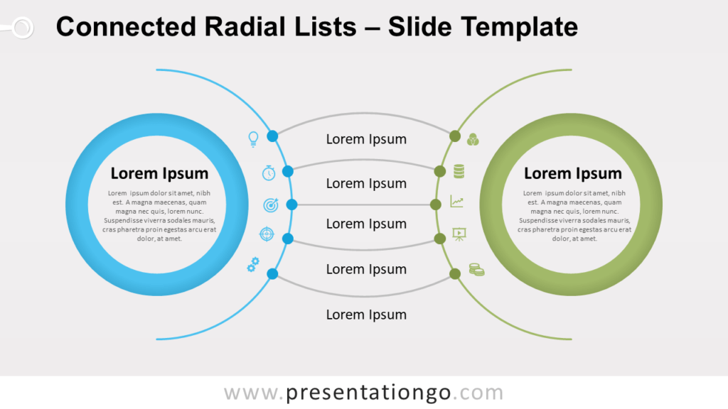 Free Connected Radial Lists for PowerPoint and Google Slides