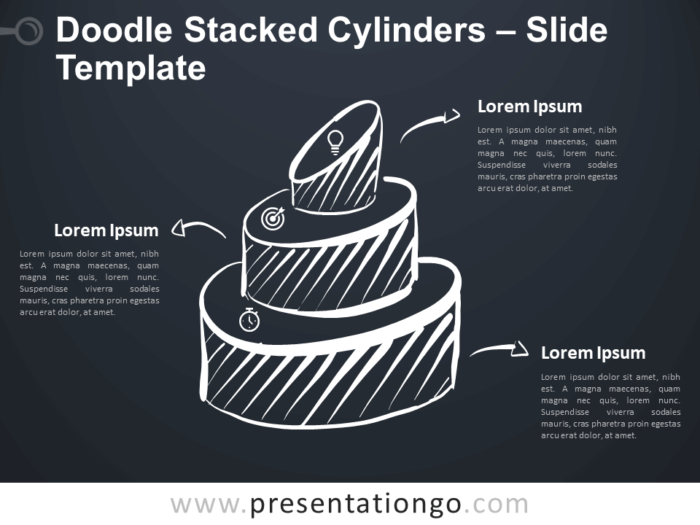 Free Doodle Stacked Cylinders for Google Slides and PowerPoint