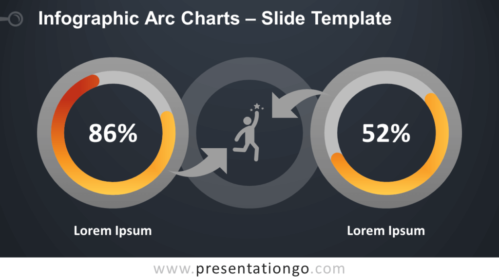 Free Infographic Arc Charts Diagram for PowerPoint and Google Slides