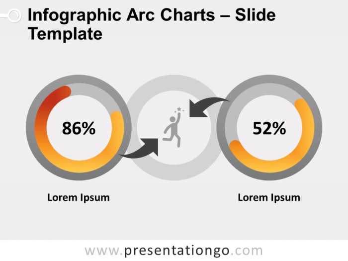 Free Infographic Arc Charts for PowerPoint