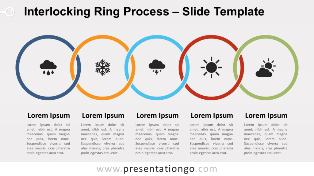 Free Interlocking Ring Process for PowerPoint and Google Slides