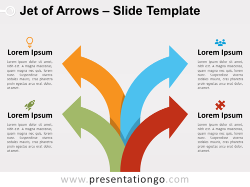 Free Jet of Arrows for PowerPoint