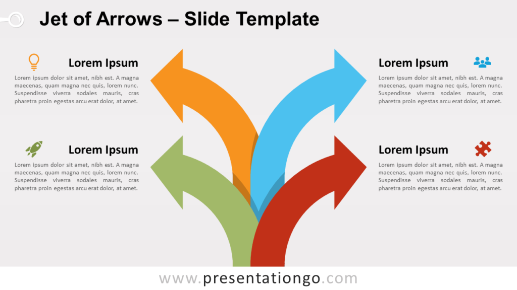 Free Jet of Arrows for PowerPoint and Google Slides