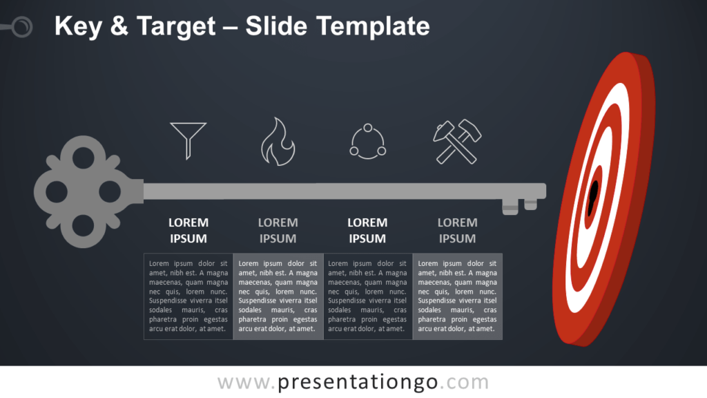Free Key and Target Diagram for PowerPoint and Google Slides