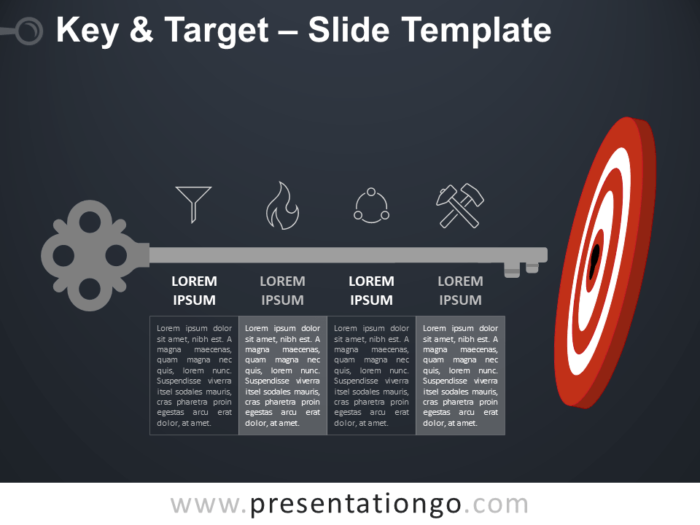 Free Key and Target Infographic for PowerPoint