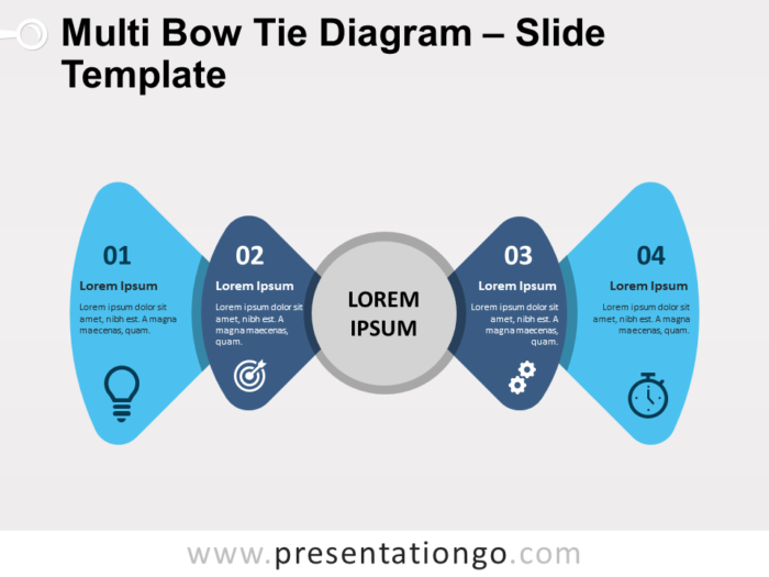 Free Multi Bow Tie Diagram for PowerPoint