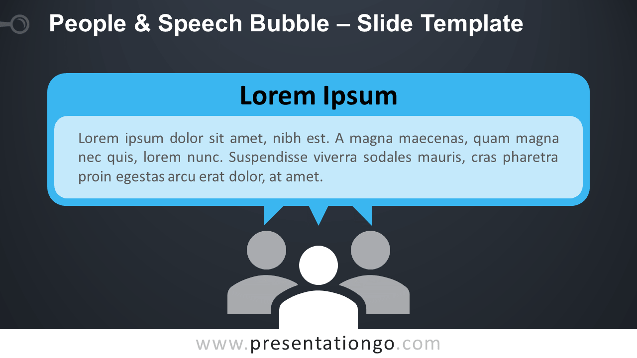 Free People and Speech Bubble Infographic for PowerPoint and Google Slides