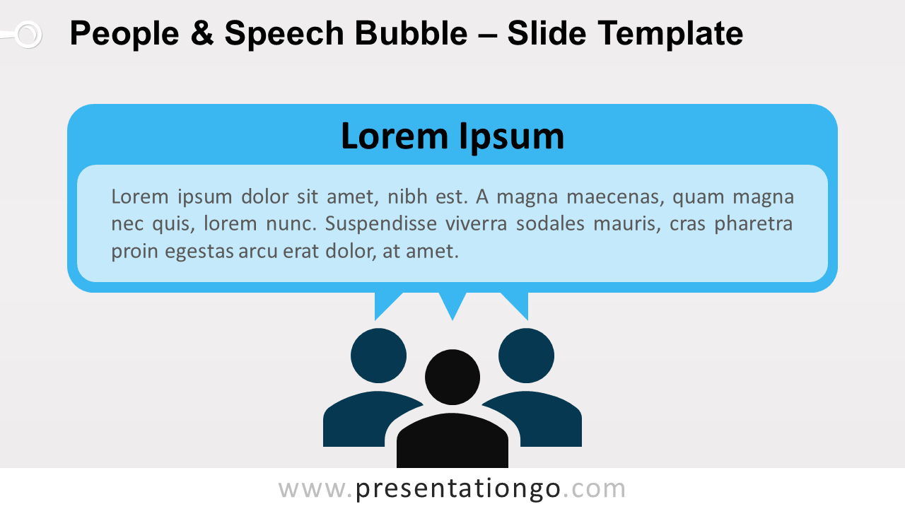 Free People and Speech Bubble for PowerPoint and Google Slides