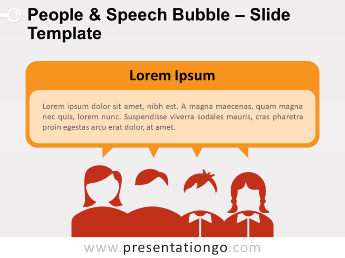 Free People and Speech Bubble Text for PowerPoint