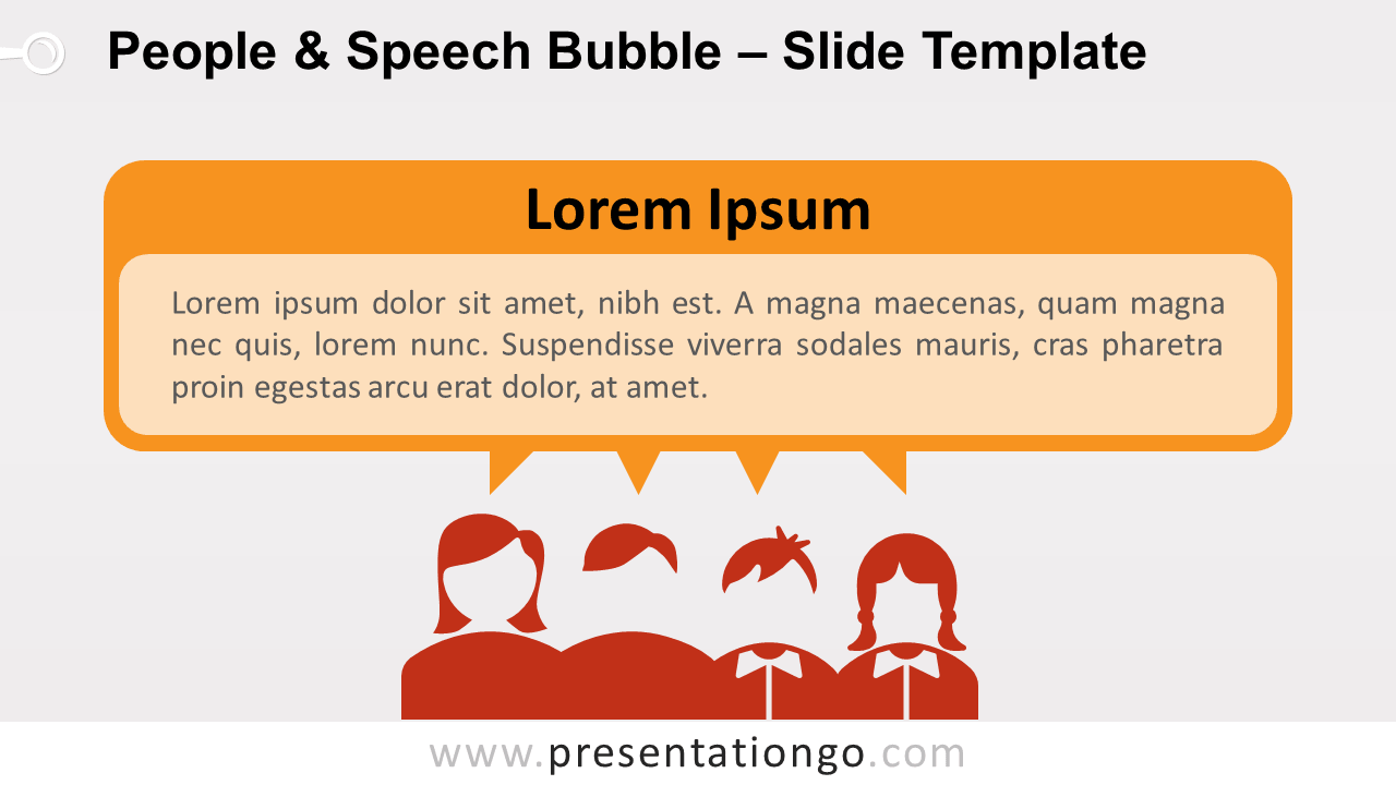 Free People and Speech Bubble Text for PowerPoint and Google Slides