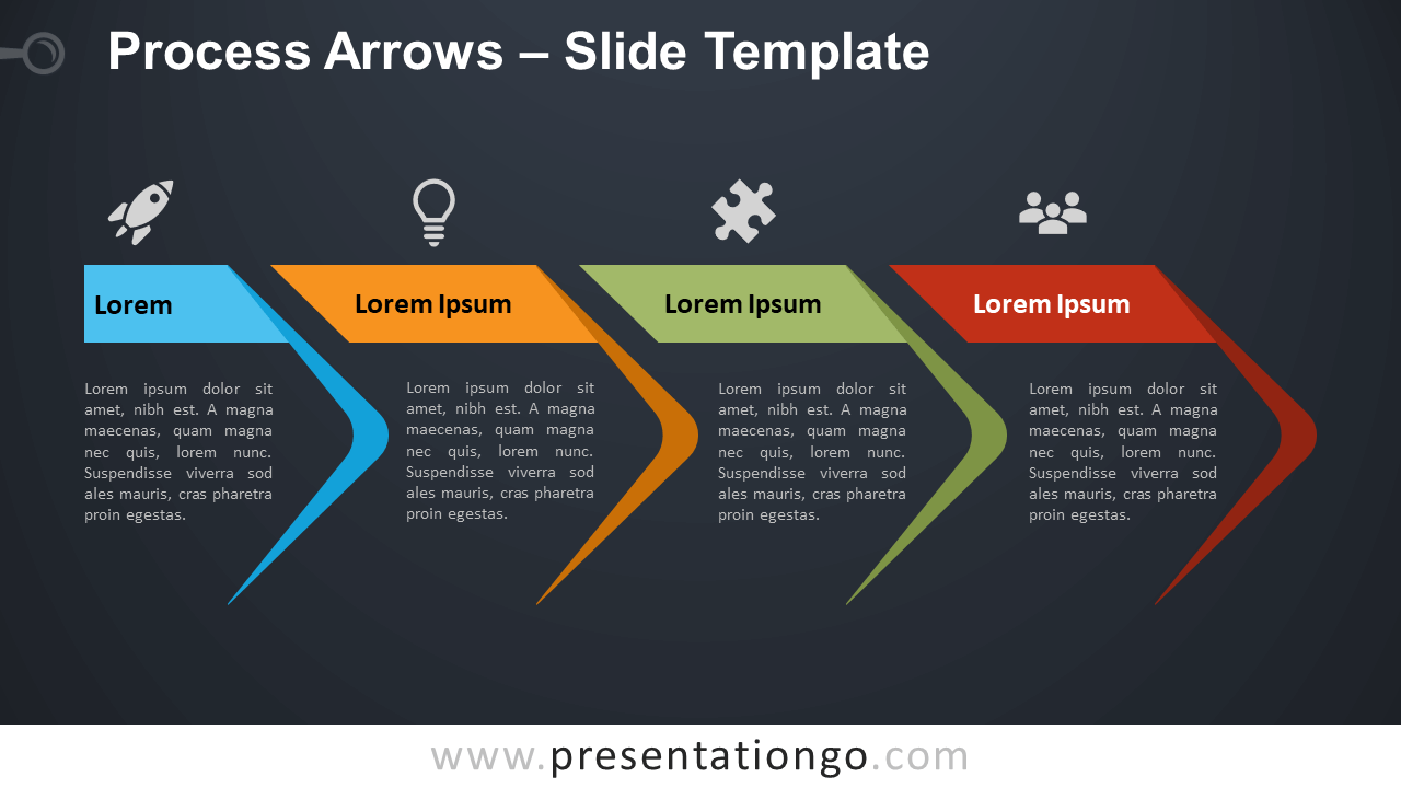 Free Process Arrows Diagram for PowerPoint and Google Slides