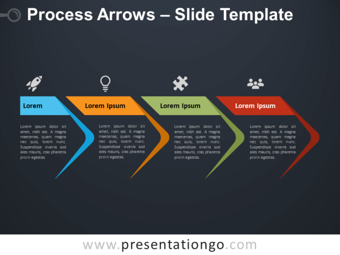 Free Process Arrows for Google Slides and PowerPoint