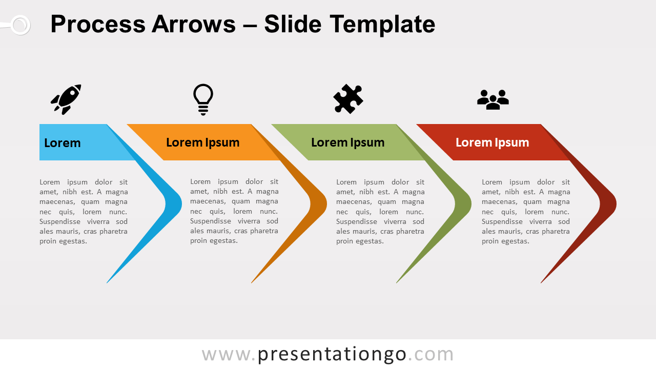 Free Process Arrows for PowerPoint and Google Slides
