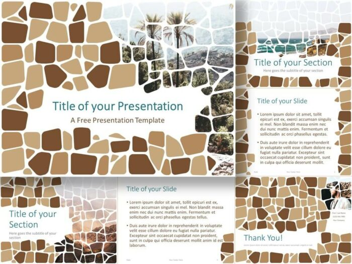 Free Stone Mosaic Template for PowerPoint and Google Slides