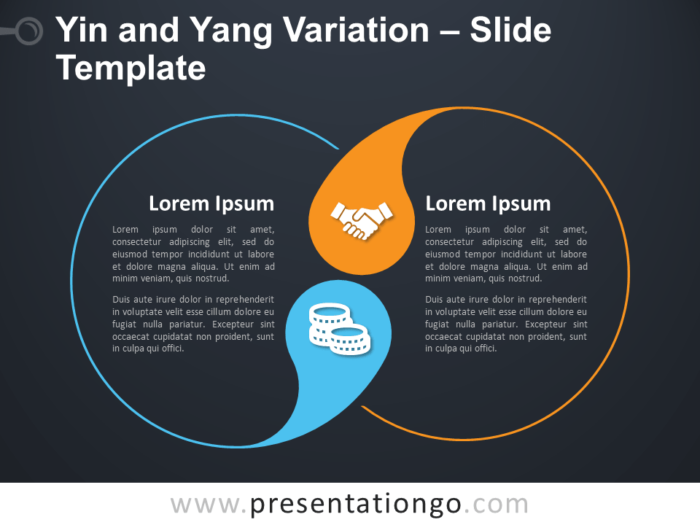 Free Yin and Yang Variation Diagram for PowerPoint