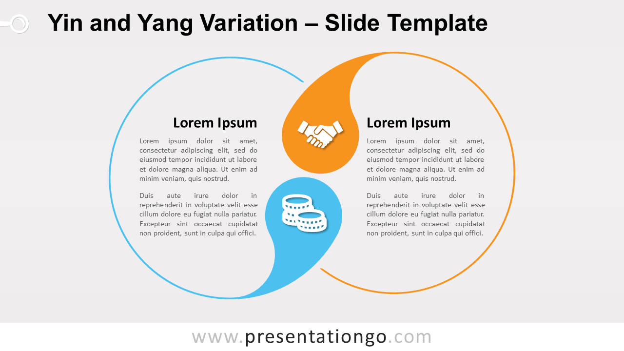 Free Yin and Yang Variation for PowerPoint and Google Slides