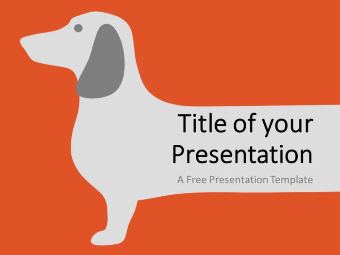 Free Sausage Dog Template for Google Slides - Cover Slide
