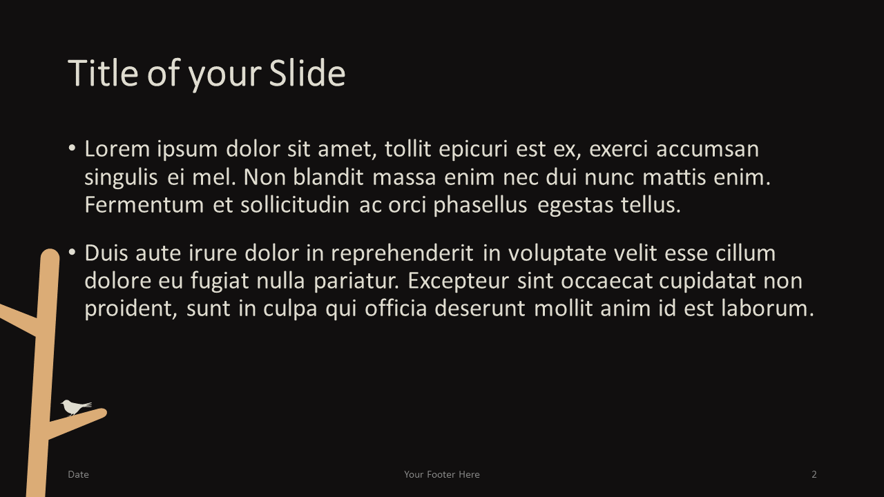 Free Birds Template for Google Slides – Title and Content Slide (Variant 1)