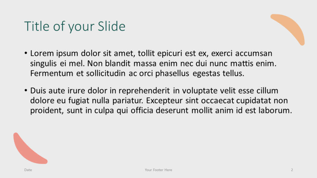 Free Green Rounded Abstract Template for Google Slides – Title and Content Slide (Variant 1)