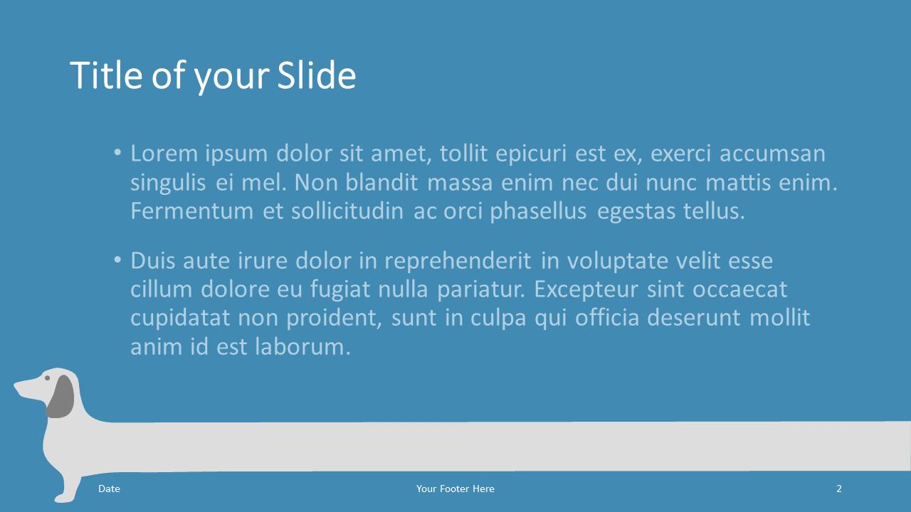 Free Sausage Dog Template for Google Slides – Title and Content Slide (Variant 1)