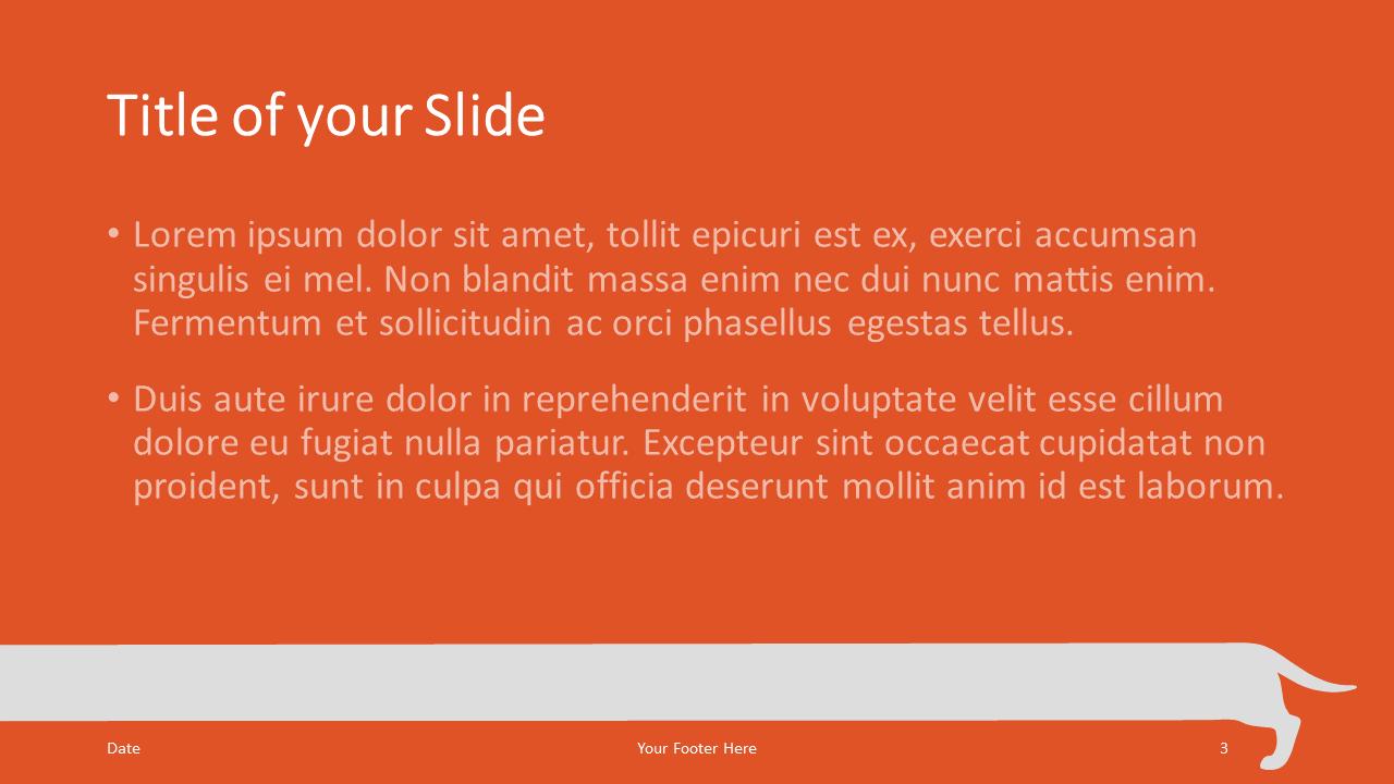 Free Sausage Dog Template for Google Slides – Title and Content Slide (Variant 2)