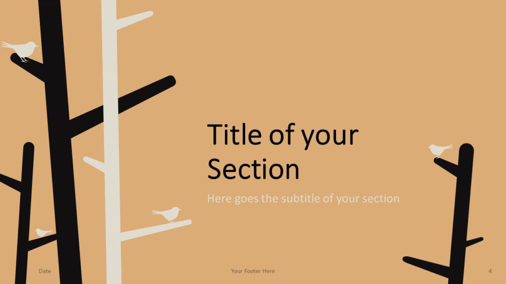 Free Birds Template for Google Slides – Section Slide (Variant 1)