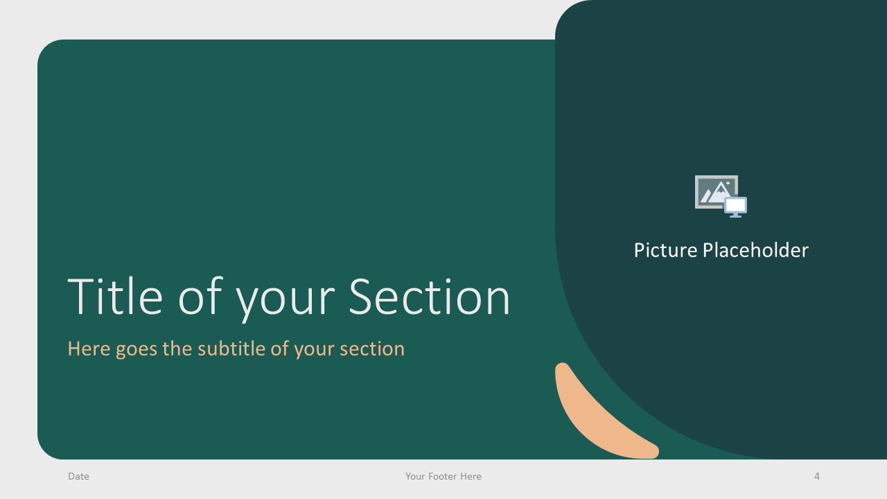 Free Green Rounded Abstract Template for Google Slides – Section Slide (Variant 1)