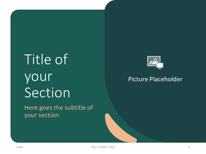 Free Green Rounded Abstract Template for PowerPoint – Section Slide (Variant 1)