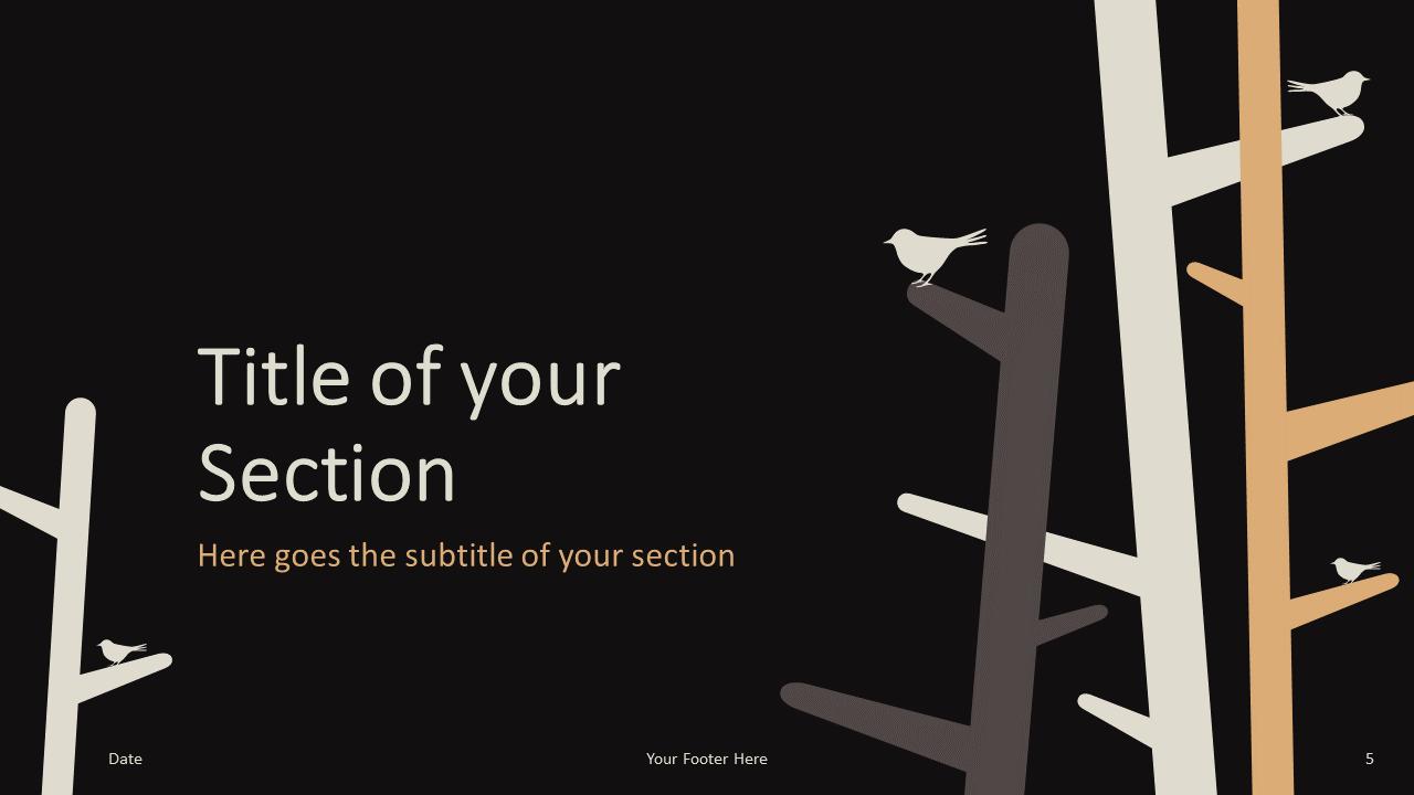 Free Birds Template for Google Slides – Section Slide (Variant 2)