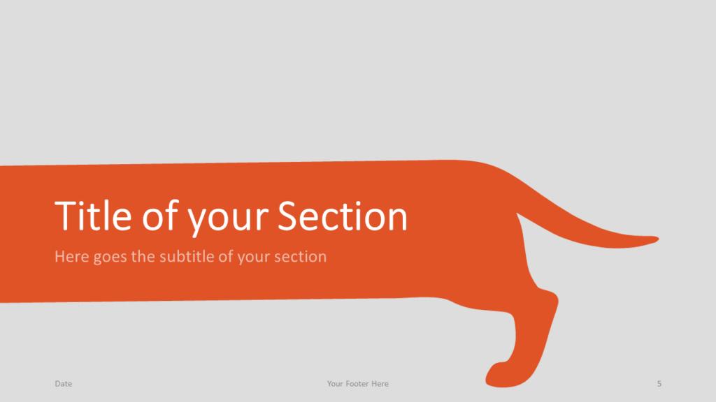 Free Sausage Dog Template for Google Slides – Section Slide (Variant 2)