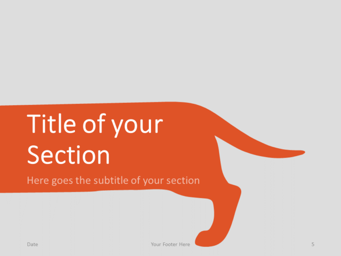 Free Sausage Dog Template for PowerPoint – Section Slide (Variant 2)
