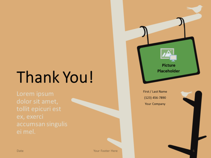 Free Birds Template for PowerPoint - Closing / Thank you