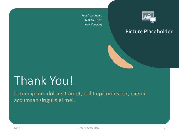 Free Green Rounded Abstract Template for PowerPoint - Closing / Thank you