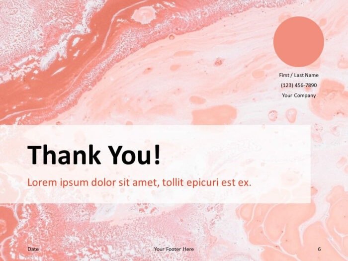Free Liquid Marbling Paint Template for PowerPoint - Closing / Thank you