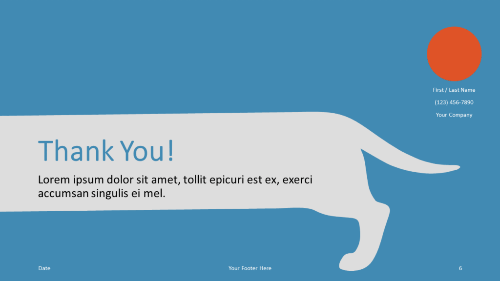 Free Sausage Dog Template for Google Slides - Closing / Thank you