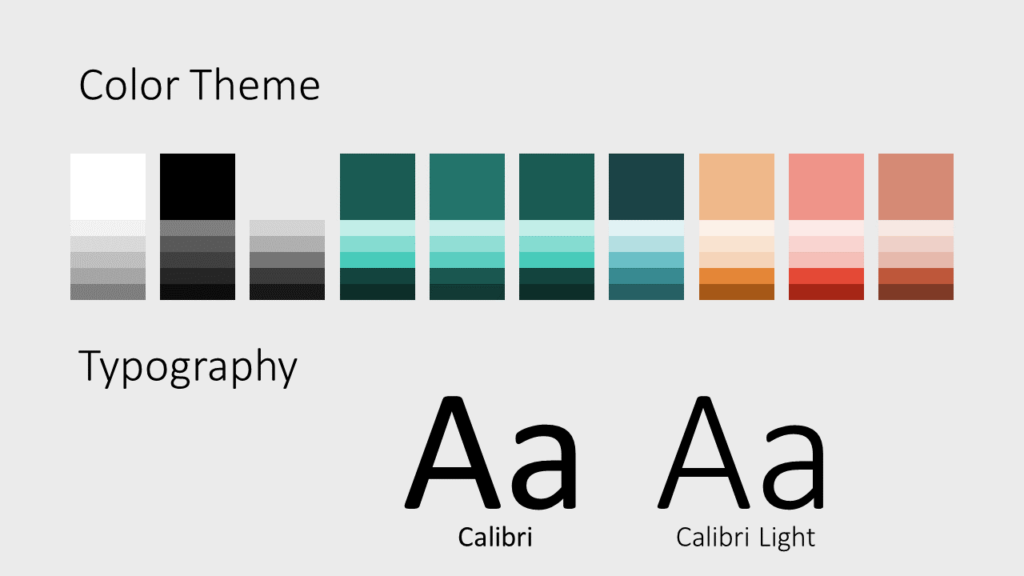 Free Green Rounded Abstract Template for Google Slides – Colors and Fonts