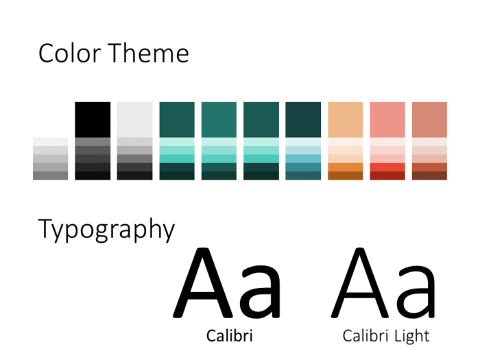 Free Green Rounded Abstract Template for PowerPoint – Colors and Fonts
