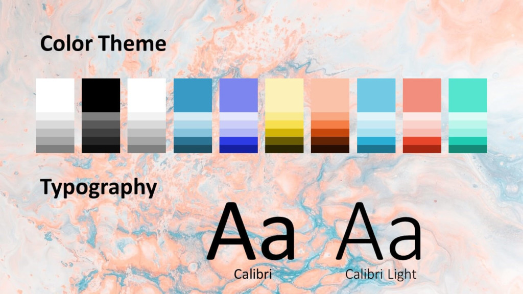 Free Liquid Marbling Paint Template for Google Slides – Colors and Fonts
