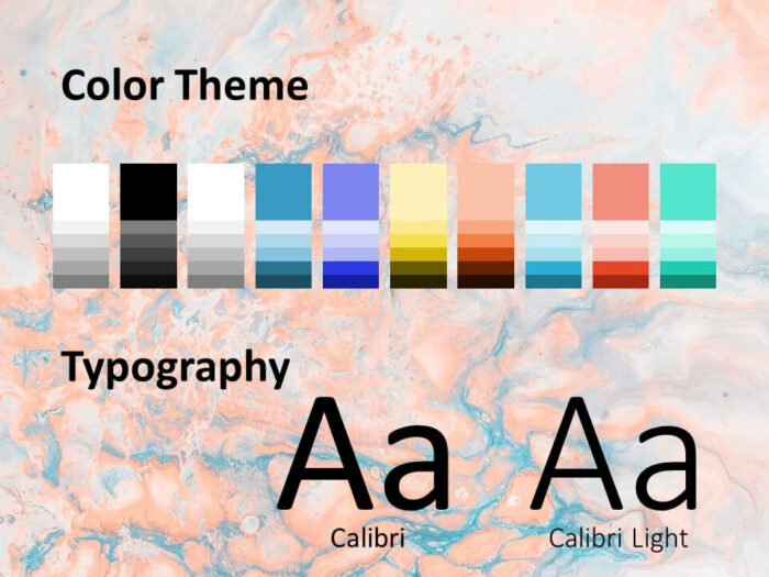 Free Liquid Marbling Paint Template for PowerPoint – Colors and Fonts