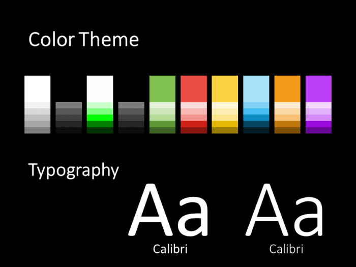 Free Mondrian Pop Art Template for PowerPoint – Colors and Fonts