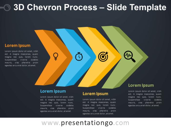 Free 3D Chevron Process Diagram for PowerPoint